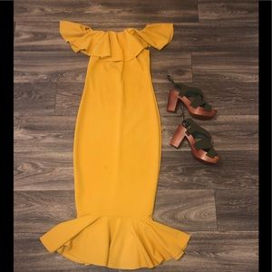 Mustard Yellow Fashion Nova Dress